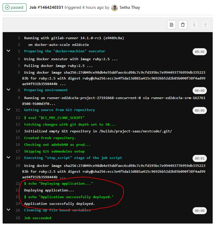 cicd-auto-deploy-your-project-using-gitlab-runner-job-detail